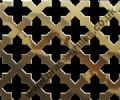 Polished Brass Grille 23mm Cross Perforated Sheet 2000mm x 1000mm x 0.7mm